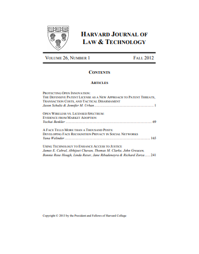 Harvard Journal of Law & Technology